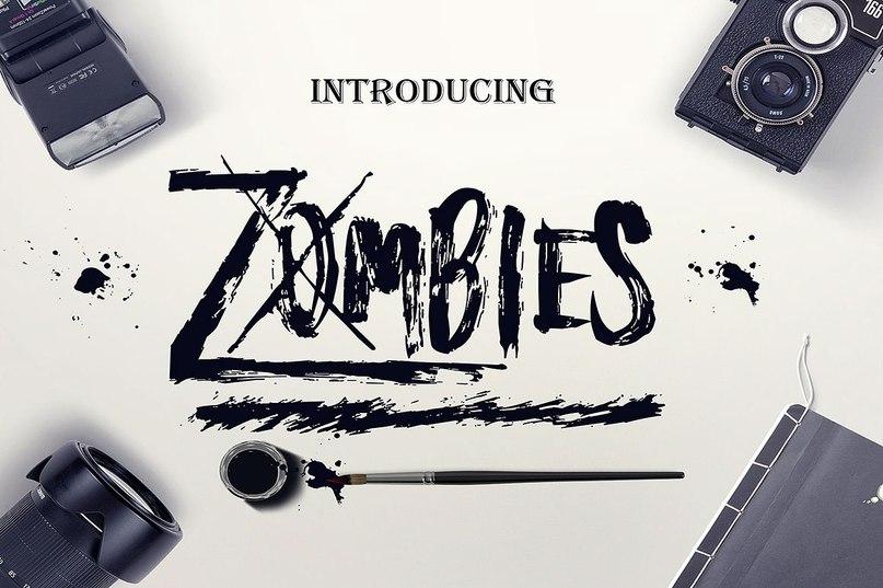 Zombies шрифт скачать бесплатно
