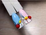 Дизайн ногтей l Объемная божья коровка на ромашке