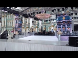 Оперная певица Вероника Джиоева  на праздновании дня рождения Санкт- Петербурга (генеральная репетиция )