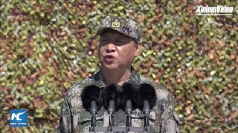 China holds military parade to mark PLA 90th birthday 庆祝中国人民解放军建军90周年阅兵