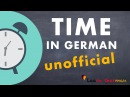 Learn German Time unofficial How to tell time Zeit German for beginners A1 Lesson 23