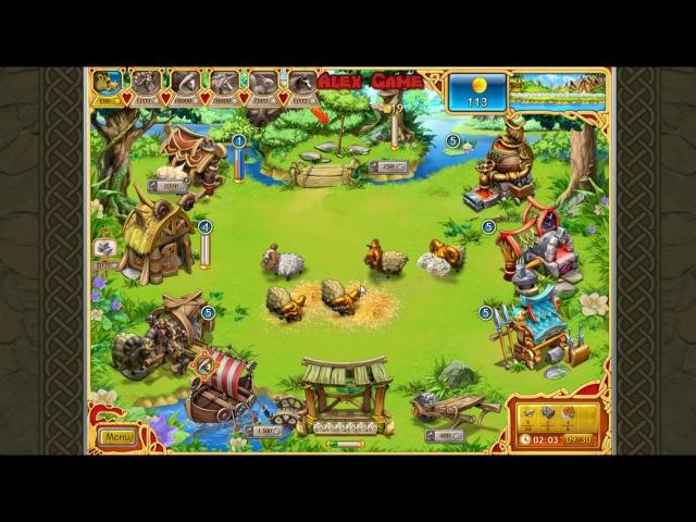 Веселая ферма Викинги Стандарт Уровень 23 Золото Farm Frenzy Viking Heroes Standart Level 23 GOLD