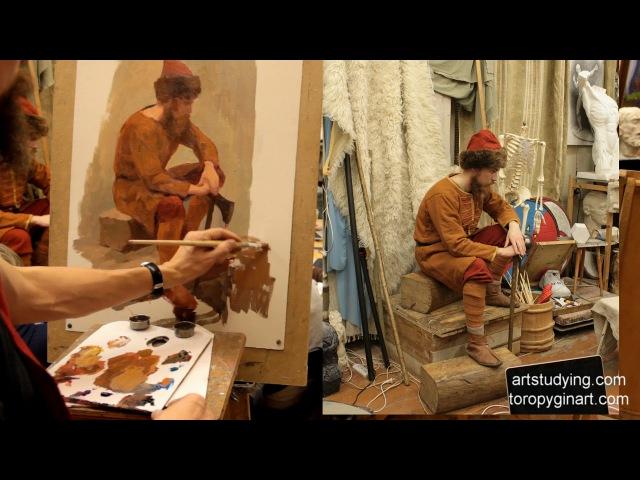 Сидящая одетая фигура обучение живописи фигура 108 серия смотреть онлайн без регистрации