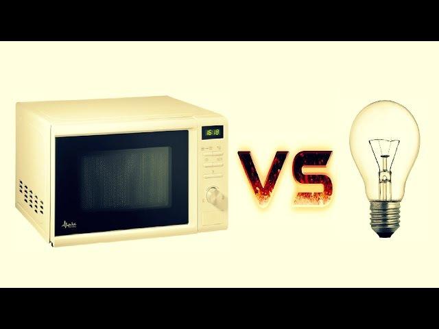 МИКРОВОЛНОВКА vs ЛАМПОЧКА 💻 vs💡 Что если засунуть лампочку в микроволновку ➄