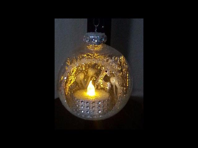 DIY~Stunning Inexpensive Dancing LIghts Faux Candle Ornament!