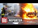 EZB Eröffnung in Frankfurt 1 Randale Chaoten brennende Autos European Central Bank Blockupy