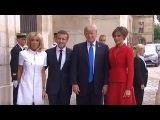 President Trump Arrives in France, Paris.