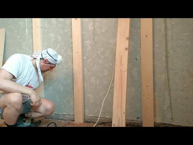 Быстро закрепить к кирпичной или бетонной стене деревянную балку