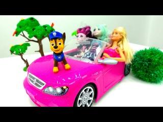 Куклы #Барби и Монстр Хай: ДРАКА ЗА МАШИНУ! Видео с игрушками #БюроНаходок Игры дл...