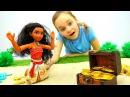 Видео для детей МУАНА И СОКРОВИЩА ПИРАТОВ! Игрушки из мультика Куклы Приключен...