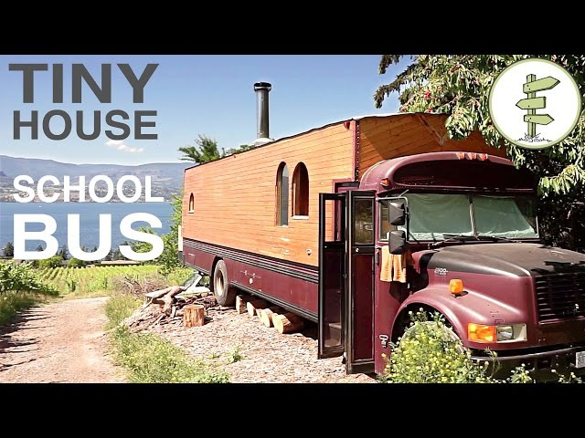 School Bus Converted into Full Time Tiny House - Amazing custom RV!