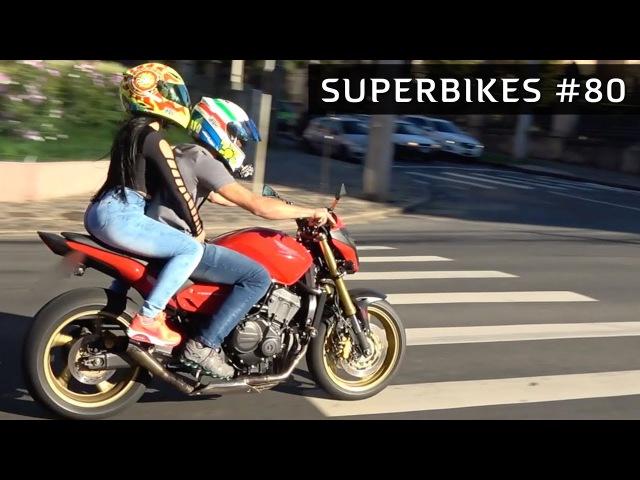 HORNET NO GRAU, CB1000 CORTANDO GIRO E MOTOS ESPORTIVAS (SUPERBIKES 80)