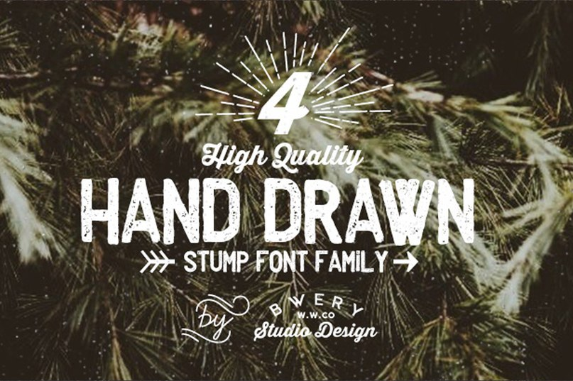 Download Stump font family font (typeface)