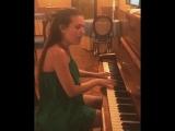 Людмила Чеботина сыграла и спела Unsteady (OST До встречи с тобой)