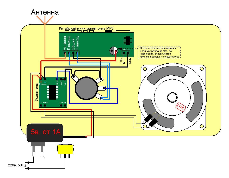 схема переделки старого радио
