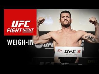 Прямая трансляция показательной церемонии взвешивания участников турнира UFC в Шанхае.