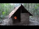 Примитивная технология: черепичная крыша хижиныПримитивная технология: шахтная и каминная печь Primitive Technology: Wattle and Daub Hut