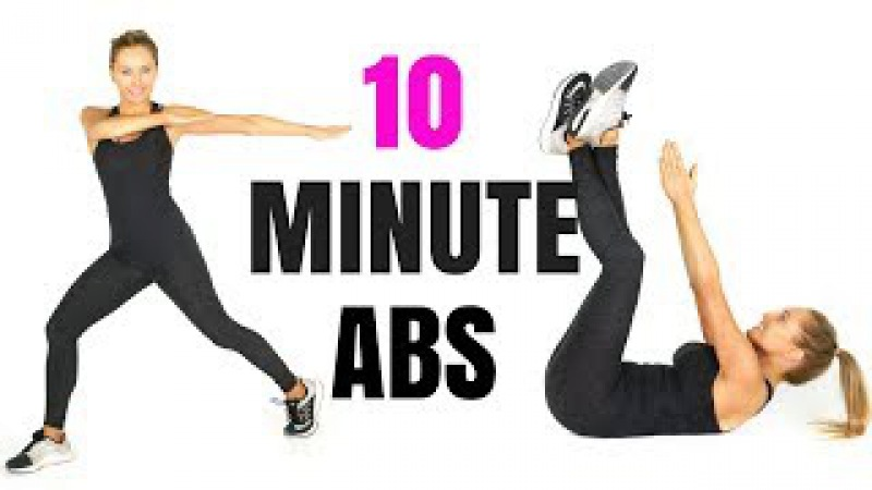 AT HOME WORKOUT 10 MINUTE ABS - with standing ab exercises and tips on how to lose belly fat