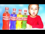 Learn Colors With Baby Songs Johny Johny Yes Papa Bad Kids Drink Coca Cola Color