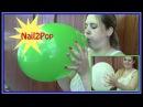 Looner Steffi testet ihre Fingernägel an zwei prall aufgepusteten Luftballons - Challenge