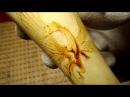 Стилет. Рукоять - натуральная кость с пирографией.