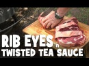 Rib Steaks and Twisted Tea Butter Sauce