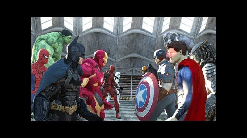 Cuộc chiến của các siêu nhân ↭ Songoku Bat man người nhện supperman Fight