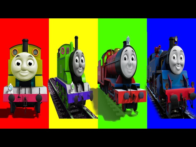 Learn Colors with Thomas and Friends Funny Face Swap Wrong Heads Finger Family SongToy Train