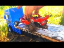 Мультики про машинки застряли в грязи трактор без призепа вытягивает две машины...