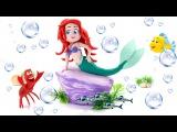 The Little Mermaid Princess Ariel Stop Motion Videos La Sirenita Fun Superhero Movies Toy Videos