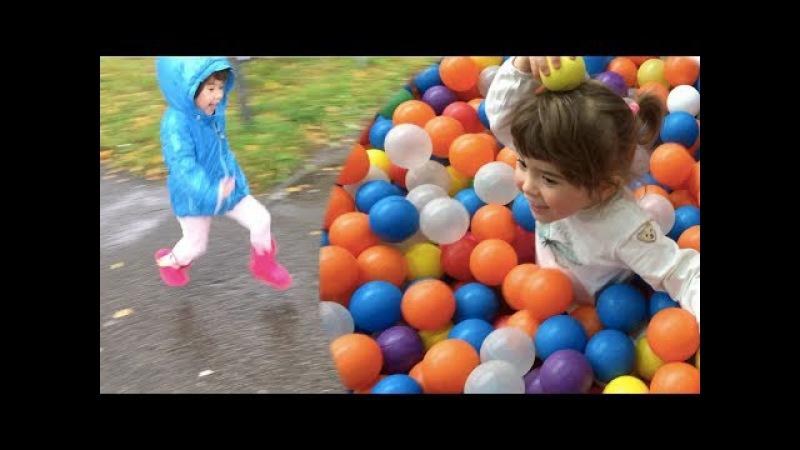 Funny Indoor Playground With Balls Family Fun Playtime for Kids Развлекательный центр для Детей