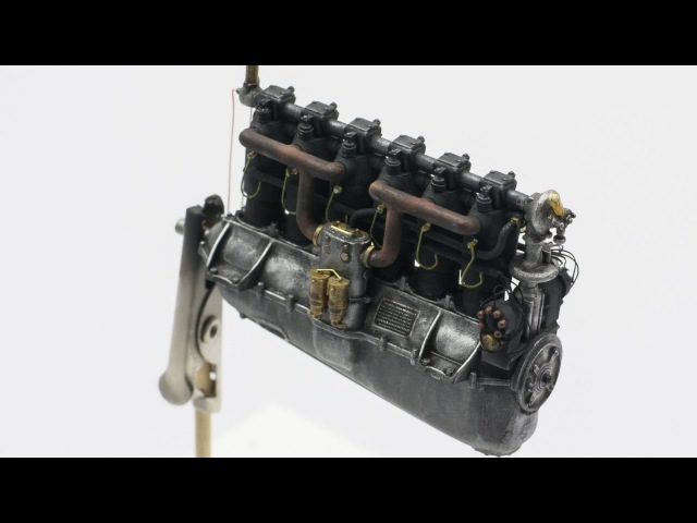 How to build Daimler Mercedes D.III Engine 160 ps - 132 WINGNUT WINGS