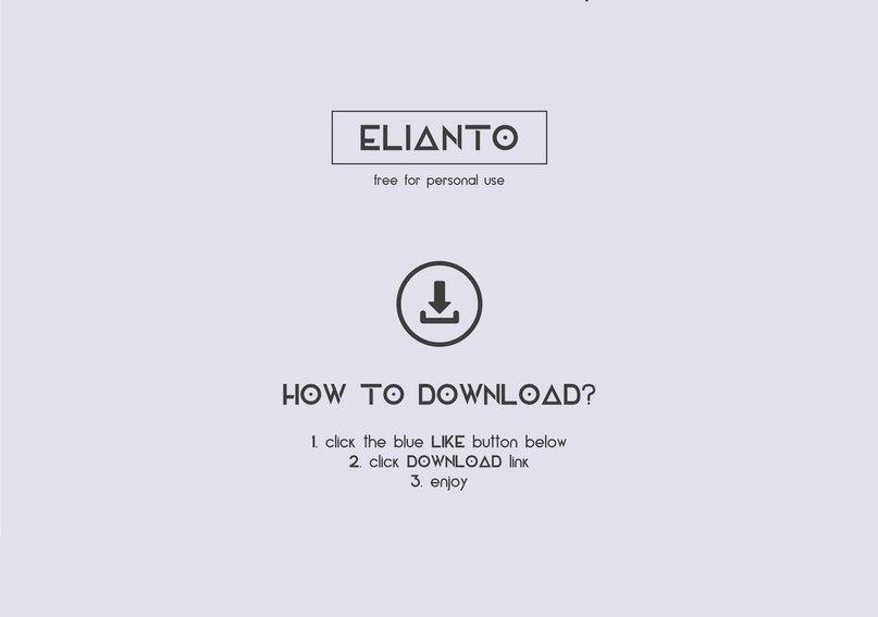 Elianto шрифт скачать бесплатно