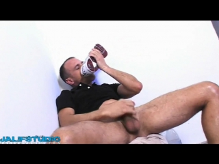 Gay Pon Sex: Sexy dirty guy masturbating his big cock mmm
