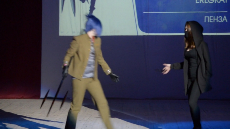 Niji Fest 2017. Одиночно-парное дефиле 29. Katekyo Hitman Reborn!, Rokudo Mukuro - Erlgray, г. Пенза