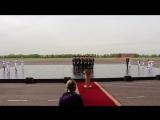 Генеральная репетиция церемонии открытия MILEX-2017 Международной выставки вооружения 18 мая 2017. Рота почетного караула Респуб