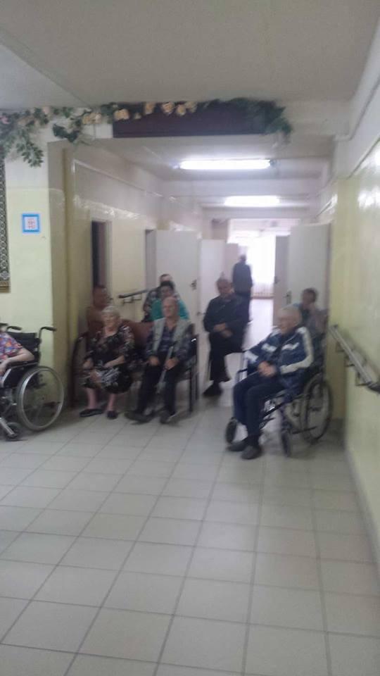 Территория добра в Лысковском доме престарелых