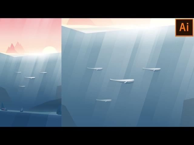 Underwater Vector Illustration   Adobe Illustrator Tutorial