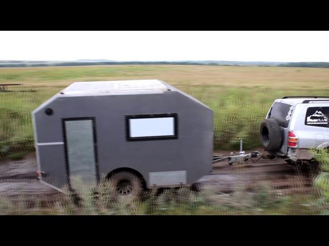 Первое испытание самодельного дома на колесах (каравана) Navahi