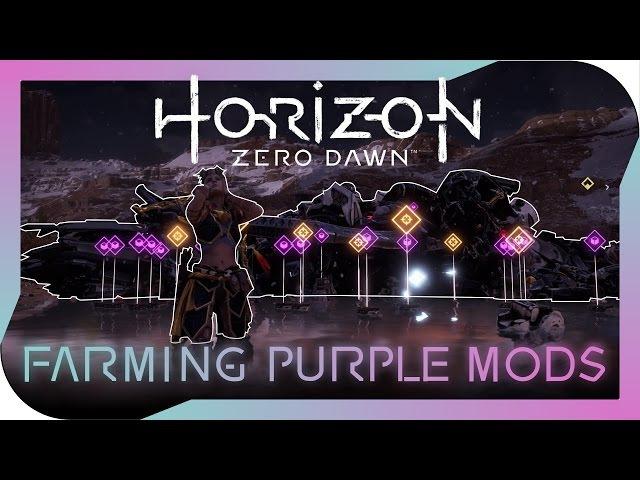 Horizon Zero Dawn - Farming Purple Modifications (post disc launcher nerf)