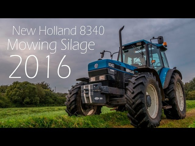 Mowing Silage 2016 with New Holland 8340 and Pottinger Mower