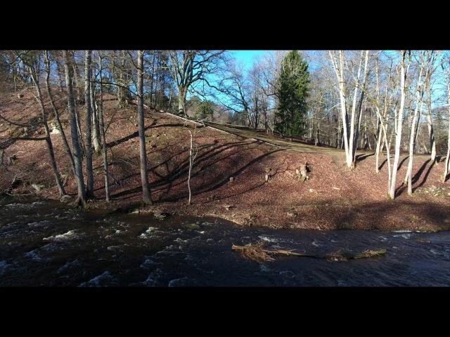 Keila waterfall Northwestern Estonia drone