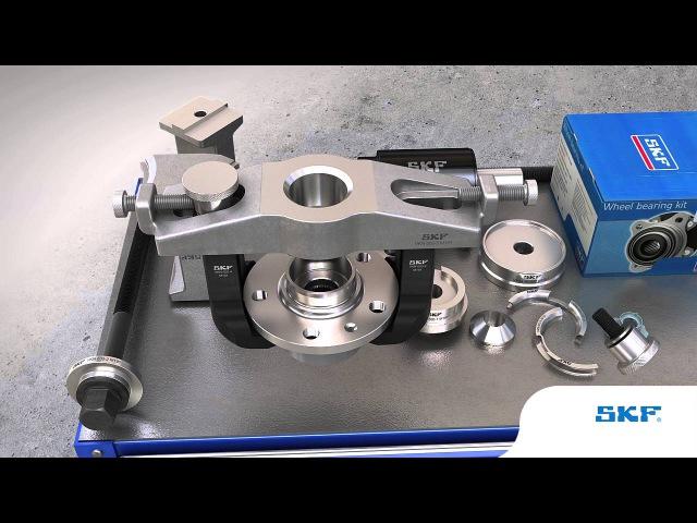 SKF — Монтаж и демонтаж ступичных подшипников с помощью инструментов SKF VKN 600/601/602-1
