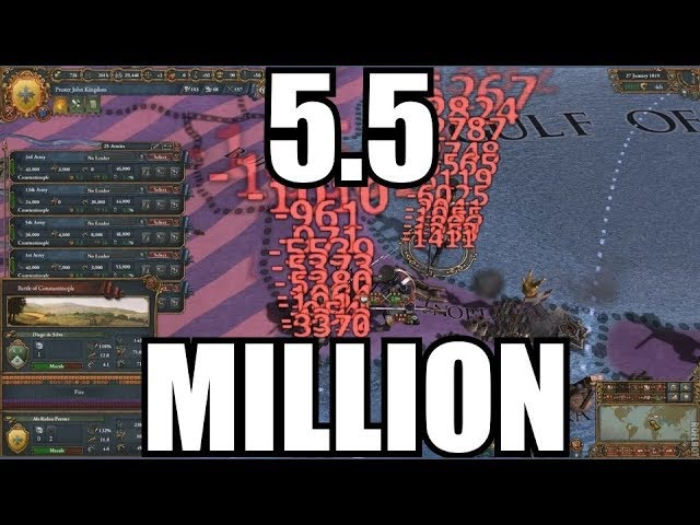 [EU4] This is how over 5.5 million soldiers battle looks like