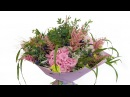Букет с гортензией и гвоздикой - Цветочный Маркет 24