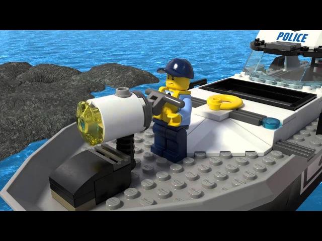 LEGO CITY | Полицейский патрульный катер | 60129