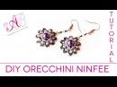 DIY Tutorial Orecchini Ninfee peyote con perline e Twin / Water Lily Earrings Tutorial