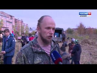 Во владикавказском парке Победы высадили красные дубы