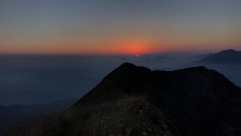 Закат в горах, Красная Поляна