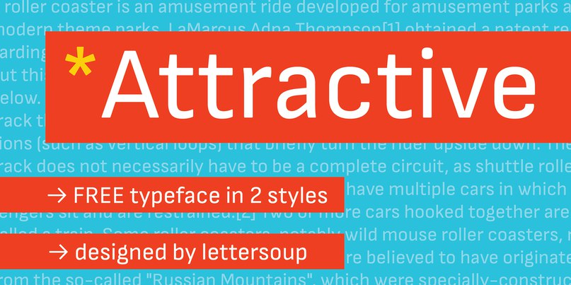 Attractive шрифт скачать бесплатно